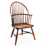 An early 19th Century ash and elm Windsor armchair, possibly West Country