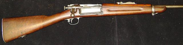 A .30-40 'Model 1896' carbine by Springfield Armory, no. 46850