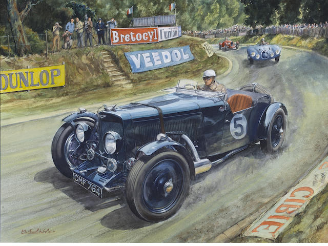 Michael Wright (1935-) '1951 BOL d' OR' (St Germain - en - Laye circuit)