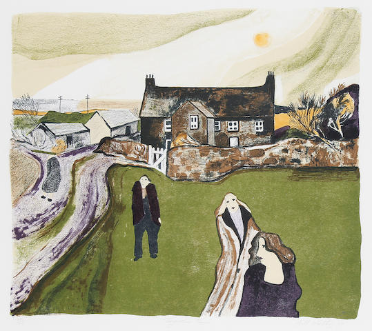 Gill Watkiss (British, born 1938) Tregarthan Farm; Winter. Bodmin Moor Two Lithographs in colour, each on wove, signed, titled, dated and numbered variously, published by the Appledore Press, Penzance, with full margins, various sizes.