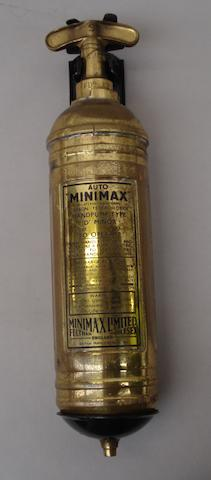 A 'Minimax' fire extinguisher,