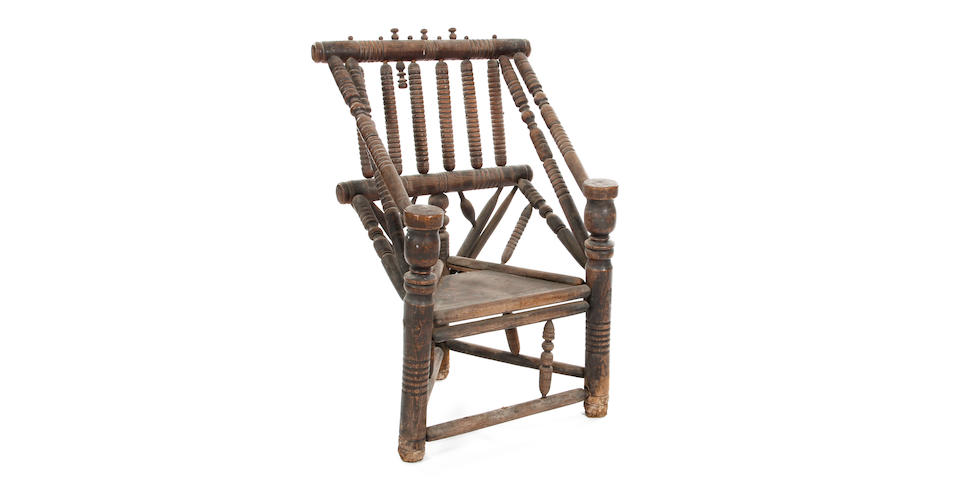 A first-half 17th Century ash turner's chair