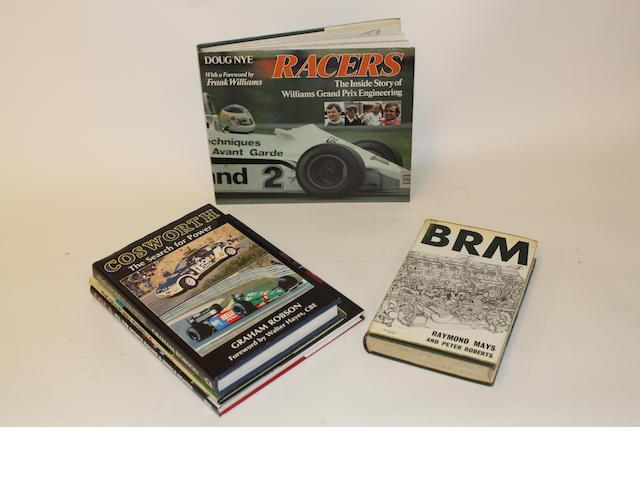 A collection of books relating to Motor Racing