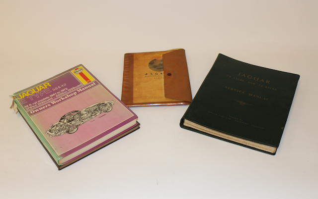 A collection of Jaguar workshop manuals