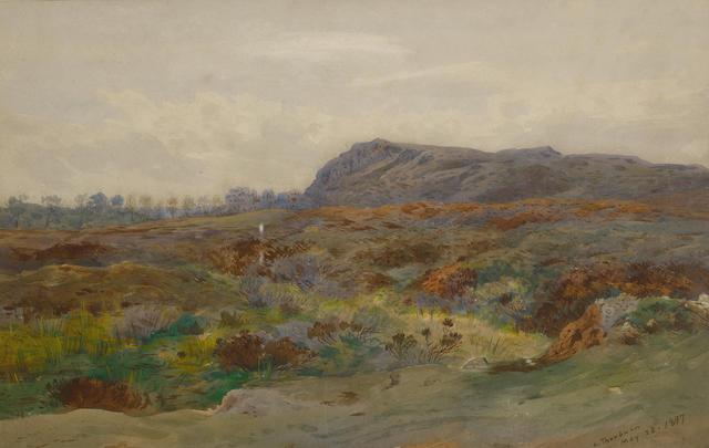 Archibald Thorburn (British, 1860-1935) Moorland landscape