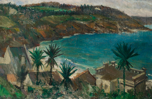 Christopher Richard Wynne Nevinson A.R.A. (British, 1889-1946) La Corniche 30.5 x 45 cm. (12 x 17 3/4 in.)