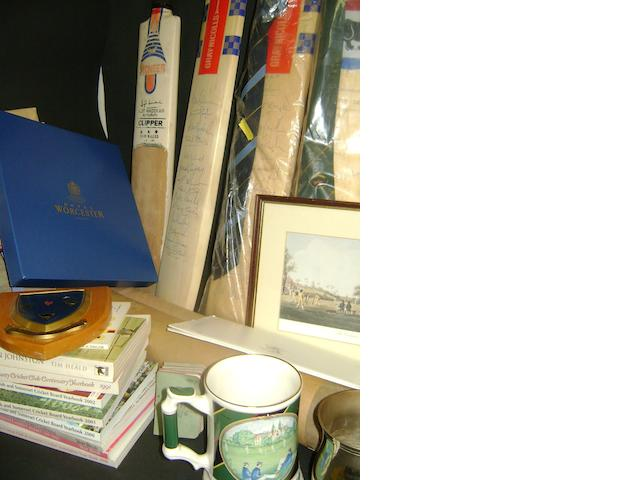 A large collection of cricketing memorabilia