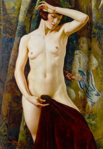 Boris Chaliapin (Russian/American, 1904-1979) Standing nude