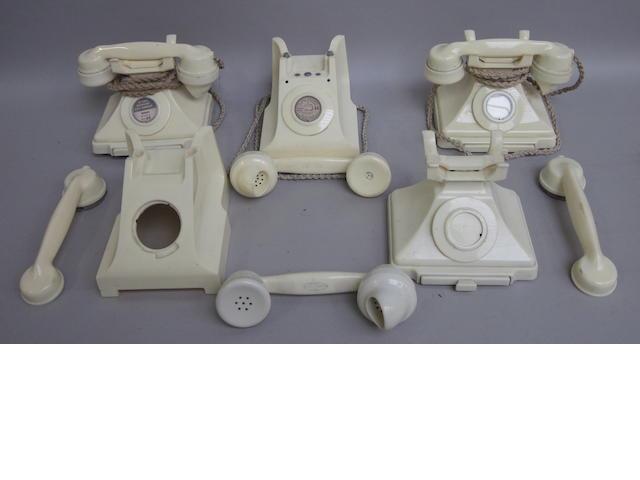 Ivory bakelite 200 and 300-series telephones