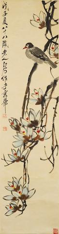 Qi Baishi (1863-1957) Dove on Magnolia