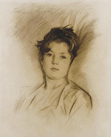(n/a) John Singer Sargent, RA (American, 1856-1925) Portrait of David Tennant, 1915 22 3/4 x 18 1/4in