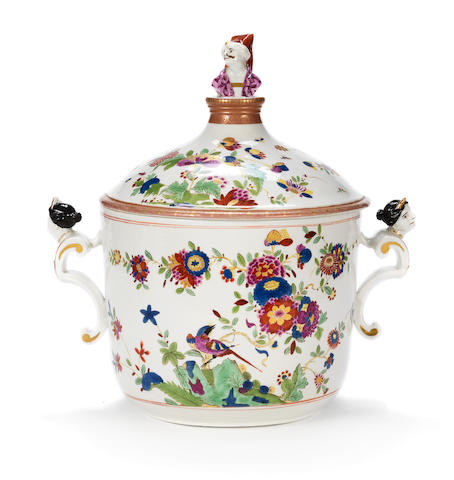 A very rare Meissen tureen and cover, circa 1725-30