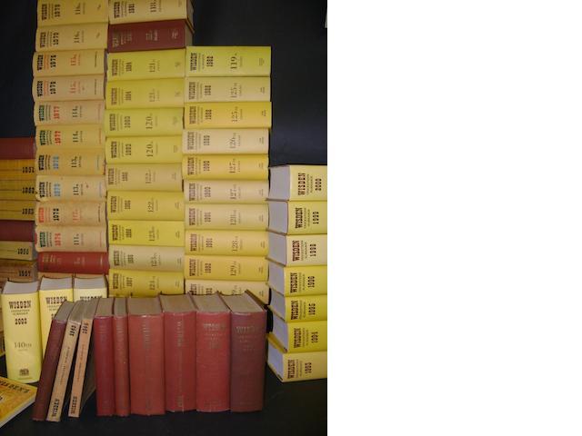 Wisden Cricket Alamanacks 1942 to 2003