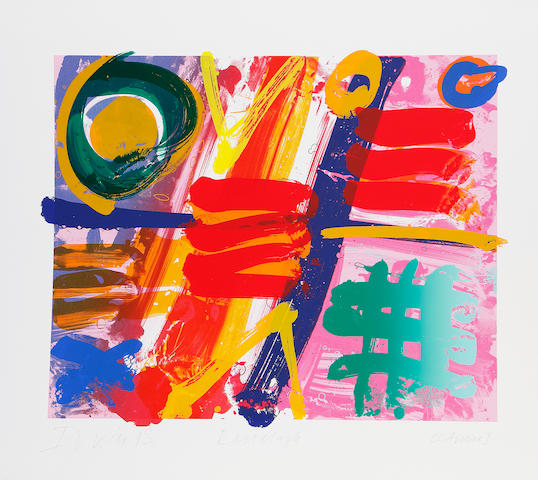 Albert Irvin RA (British, born 1922) Ranelagh; Sangora Two Screenprints in colours, 1993, signed, titled, dated and inscribed 'ccArchive I' in pencil, printed by the Curwen Press, Chilford, with full margins, various sizes (unframed) (2)