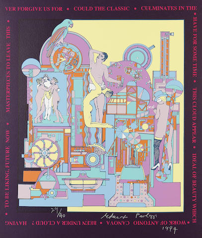 Sir Eduardo Paolozzi (British, 1924-2005) A Collection Four screenprints in colours, 1994, on various papers, each signed, dated, variously numbered and inscribed in pencil, printed by the Curwen Press, London, with full margins, various sizes (unframed) (4)