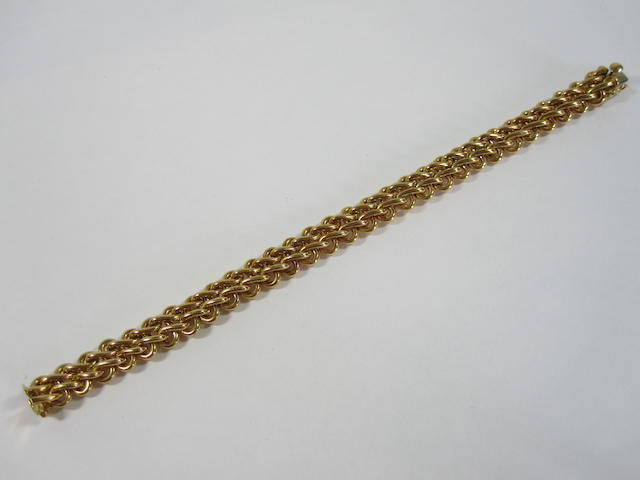 An 18ct gold bracelet, by Garrad & Co.,