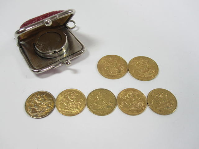 Two sovereigns and five half sovereigns (7)