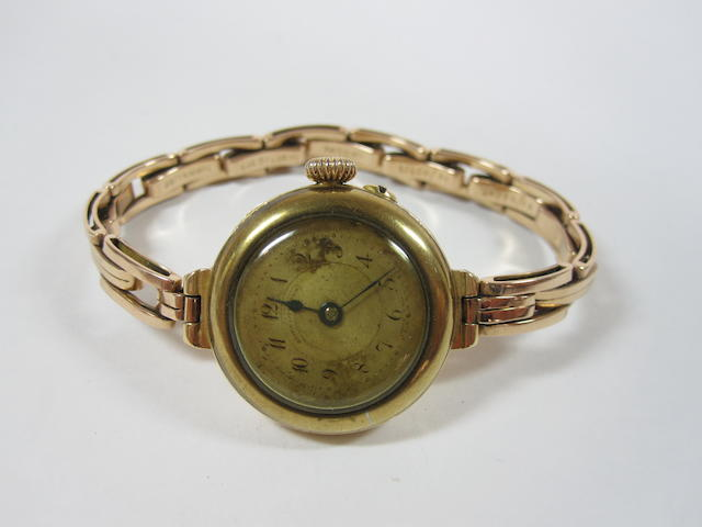 A lady's early 20th century 18ct gold wristwatch, by Mappin & Webb