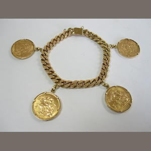 A sovereign charm bracelet