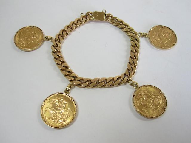 A sovereign charm bracelet