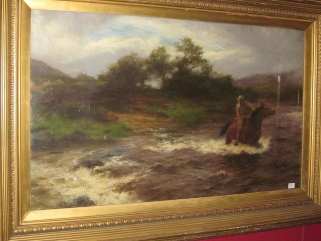 Peter Graham, RA HRSA (British, 1836-1921) 'Pursued'
