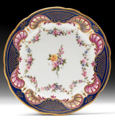 A  rare Nantgarw plate