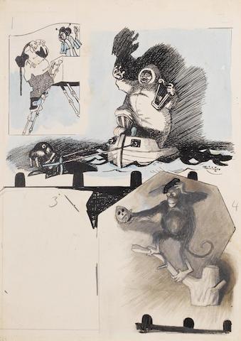 Lyonel Feininger (American, 1871-1956) Theaterzen