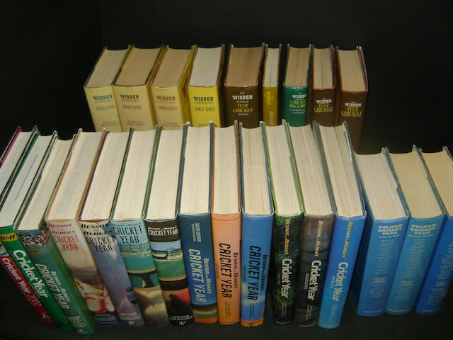 A large collection of cricket books
