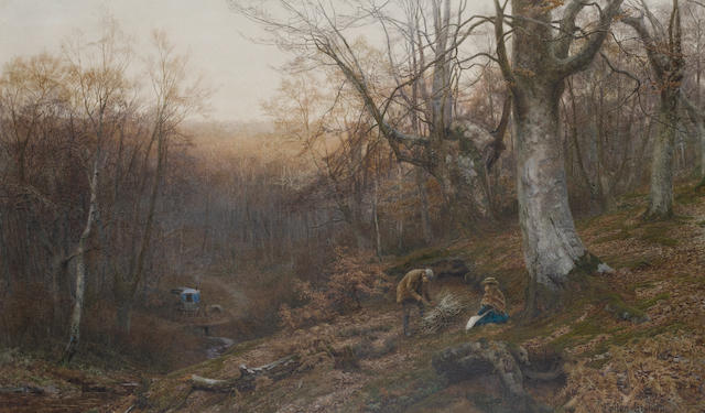 Walter Follen Bishop (British, 1856-1936) The wood gatherer