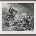 lithograph, Peter the Great
