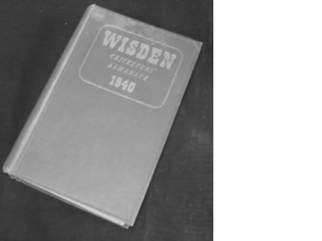 A hard-back edtion of Wisden 1940