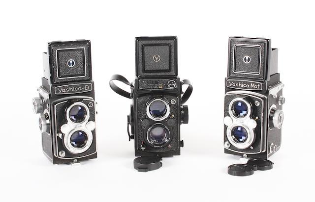 Yashica twin lens reflex cameras