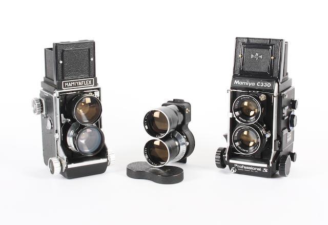 Mamiyaflex twin lens reflex cameras