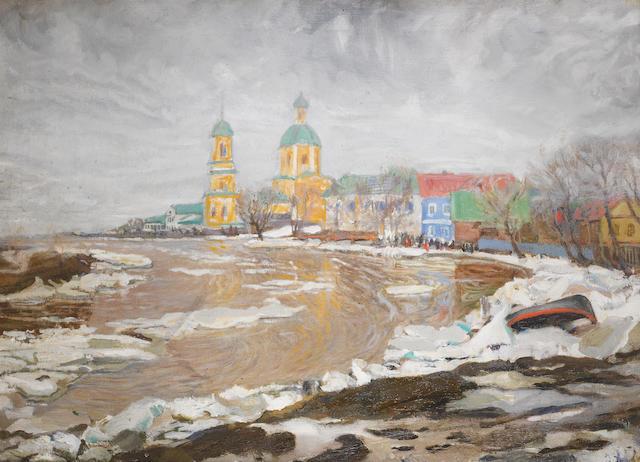 V. Zverev (Russian) Drifting on ice, Velikii Luki