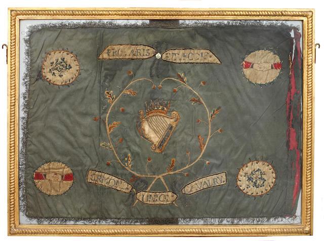 An early Irish cavalry flag guidon