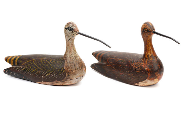 Two painted wooden decoys