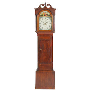A second quarter 19th Century oak-cased 30 hour painted dial longcase clock