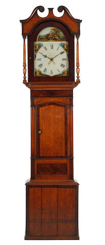 A William IV early Victorian oak and mahogany-cased 30 hour painted dial longcase clock Richardson, Brampton