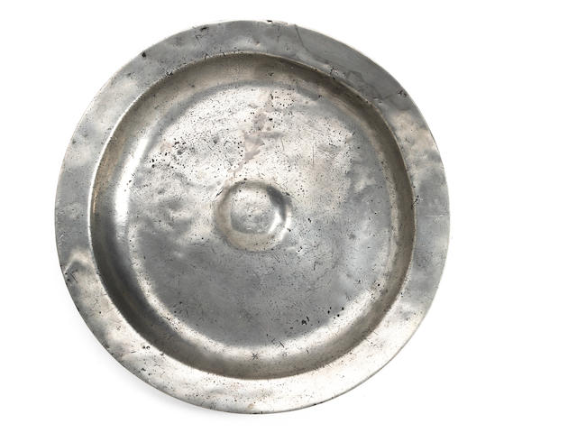 A mid-17th Century bossed dish