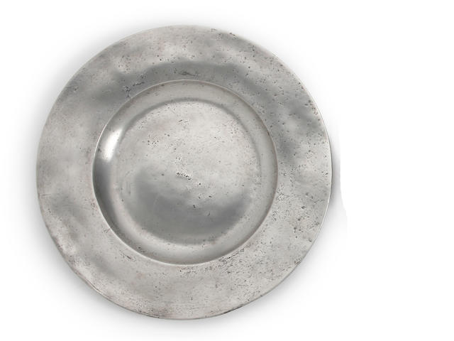 A 17th Century broad rim dish Wigan