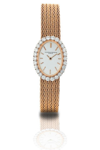 Vacheron Constantin. A fine 18ct gold manual wind diamond ladies wristwatch Circa 1960s