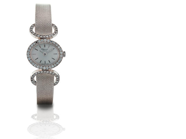 Chopard. A fine 18ct white gold diamond ladies manual wind wristwatch Ref: 47786, Case no. 5049, Circa 1980s