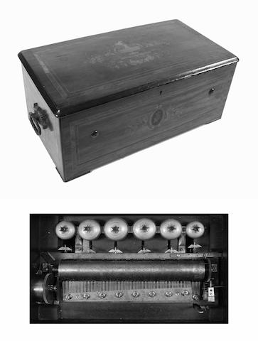 An eight air cylinder musical box by Paillard-Vaucher & Et Fils, circa 1880,