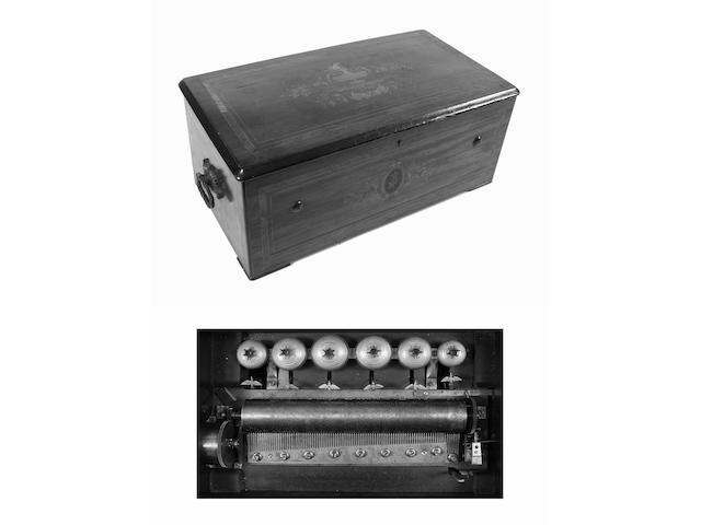An eight air cylinder musical box by Paillard-Vaucher et Fils, circa 1880,