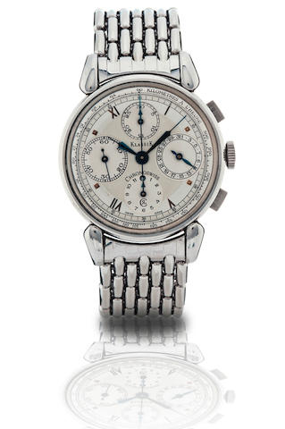 Chronoswiss.  A stainless steel automatic chronograph with calendar wristwatchKlassik, Circa 1990s