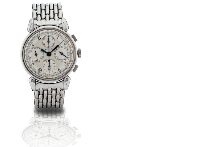 Chronoswiss.  A stainless steel automatic chronograph with calendar wristwatch Klassik, Circa 1990s