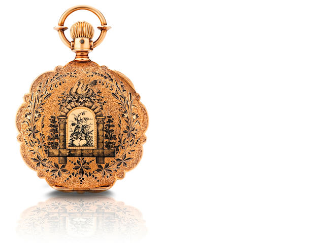 Agassiz. A rare 18ct gold hunter case pocket watch  Case No. 153384, Circa late 19th century