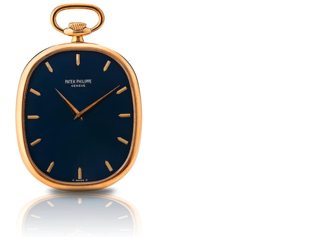 Patek Philippe. A fine 18ct gold open face pocket watch  Ref : 874, Golden Ellipse, Case No. 531.506, Movement No. 1.321.015, Circa 1976
