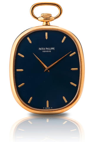 Patek Philippe. A fine 18ct gold open face pocket watch  Ref : 874, Golden Ellipse, Case No. 531.506, Movement No. 1.321.015, Circa 1976
