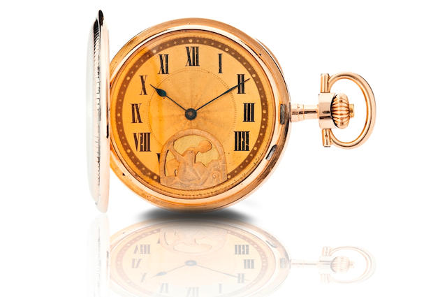 A Swiss pocket watch with erotic dial Case No. 42041, Circa early 20th century